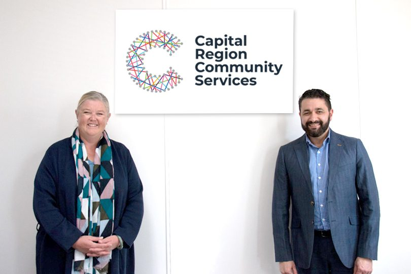 Capital Region Community Services CEO Mandy Green and Board Chairman Christopher Ermacora.